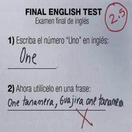 English Test Lol