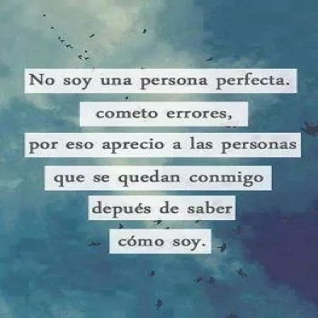 Frase No Soy Una Persona Perfecta