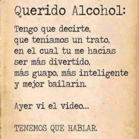 Frases Divertidas Querido Alcohol