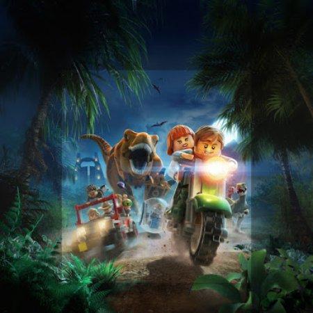 Ilustracion De Jurassic Park Con Lego