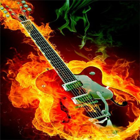 Imagen De Fondo Whatsapp Guitarra En Llamas