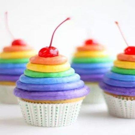 Lindos Cupcakes Coloridos