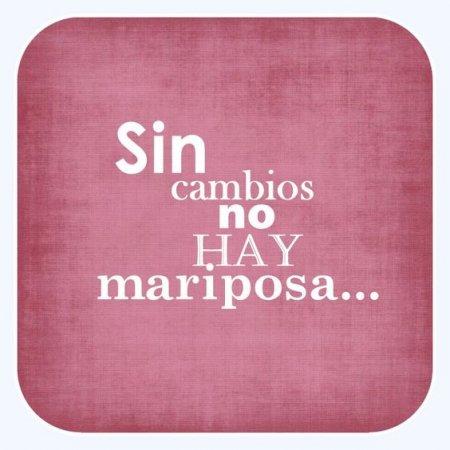 Frases Cortas: Sin Cambios No Hay Mariposa