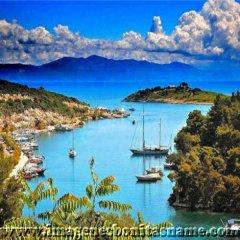Bahia En La Isla De Paxos Islas Jonicas Grecia