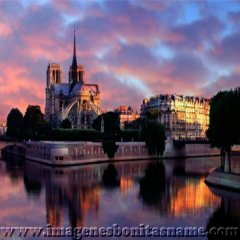 Catedral De Notre Dame Paris Al Atardecer Francia