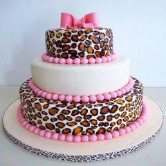 Torta de Cumpleaños con un toque de animal print
