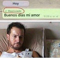 Buenos Dias Amor Reenviando Saludo Whatsapp