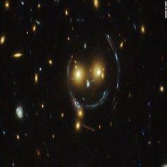 Cara Sonriente Formada Por Galaxias