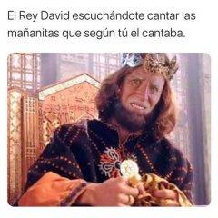 El Rey David Con Su Canto Cara Graciosa