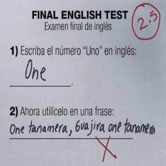 English Test Lol