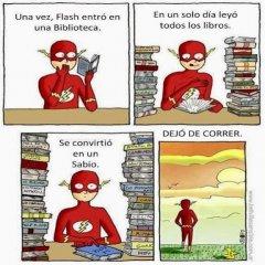 Flash Leyo Todos Los Libros De La Biblioteca