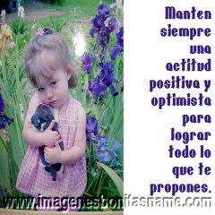 Imagen Tierna Con Frase Positiva