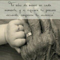 Imagenes Con Frases Te Extrano Abuela