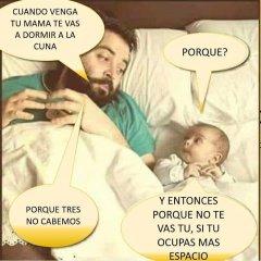 Imagenes Graciosas Bebe Con Padre