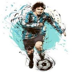 Messi Dibujo Ilustrado Argentina 2016