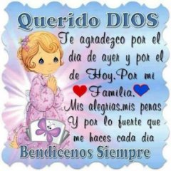 Querido Dios Bendicenos Siempre