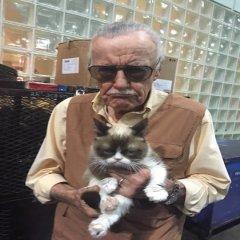 Stan Lee Y Grumpy Les Desean Un Feliz Inicio de Semana