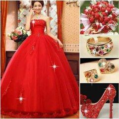 Vestidos Y Accesorios Color Rojo Pasion